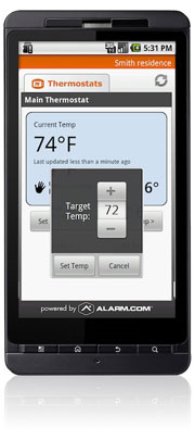 android thermostat control