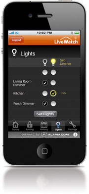 lights control on iphone